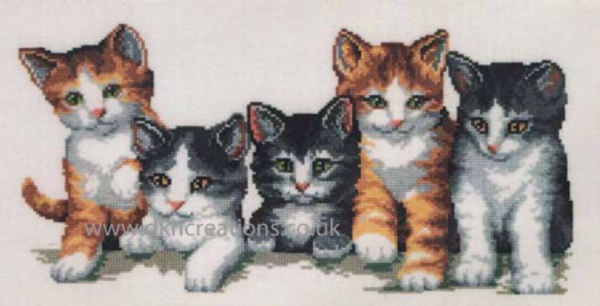 Cat Family Cross Stitch Kit